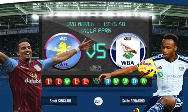 Bóng đá - Aston Villa vs West Bromwich 02h45, ngày 04/03