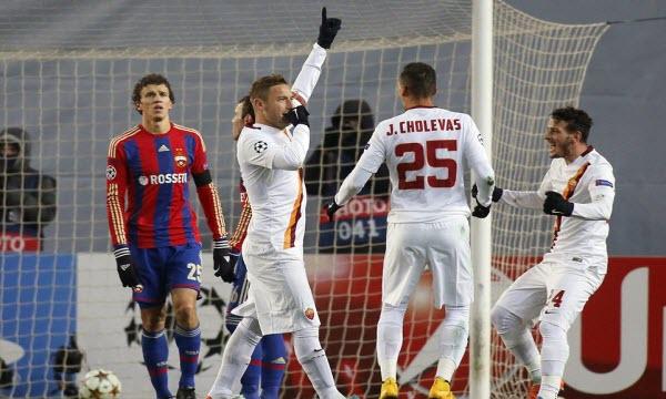 Bóng đá - CSKA Moscow vs AS Roma 00h55 ngày 08/11