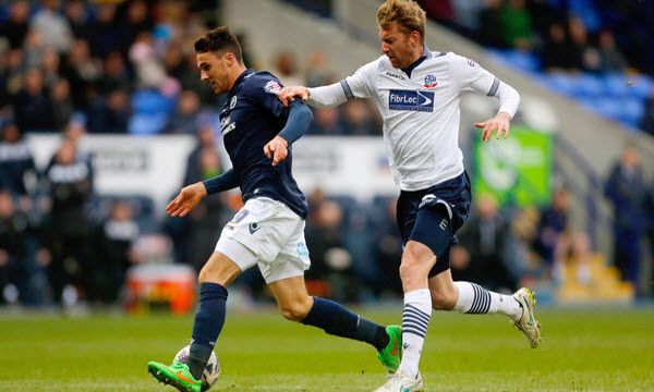 Bóng đá - Bolton Wanderers vs Millwall 02h00, ngày 11/04