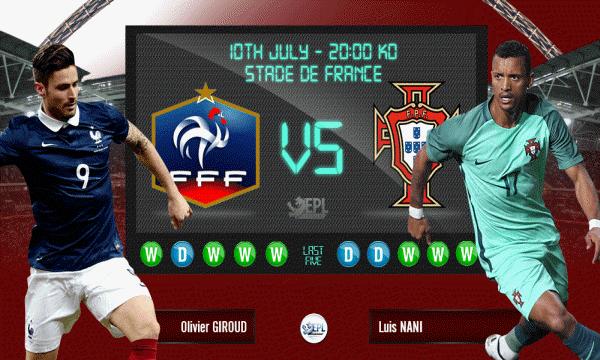 Bóng đá - Pháp vs Bồ Đào Nha 02h00, ngày 11/07