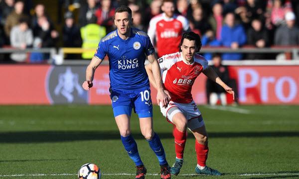 Bóng đá - Leicester City vs Fleetwood Town 02h45, ngày 17/01