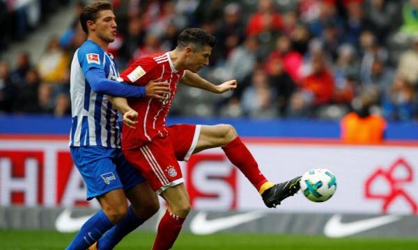 Hertha Berlin vs Bayern Munich 21h30 ngày 19/01