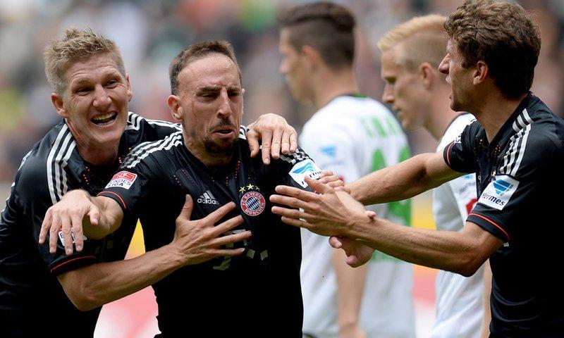 Bóng đá - M'gladbach 3-4 Bayern: Công đầu thuộc về Ribery