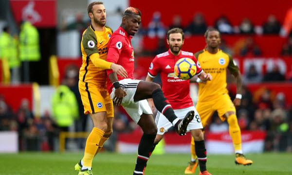 Bóng đá - Manchester United vs Brighton & Hove Albion 19/01/2019 22h00