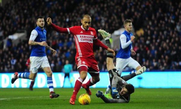 Bóng đá - Middlesbrough vs Sheffield Wed. 22h00 ngày 26/12