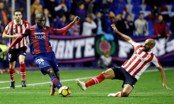 Athletic Bilbao vs Levante 02h00, ngày 24/04