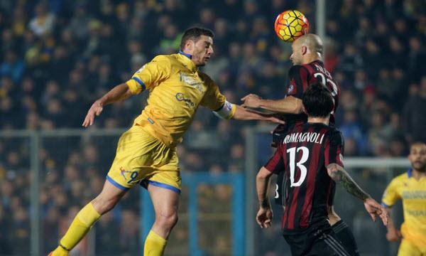 Bóng đá - Frosinone vs AC Milan 18h30 ngày 26/12