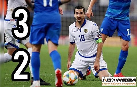 Armenia vs Hy Lạp 00h00 ngày 16/11