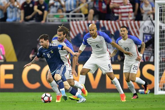 Mỹ 0 - 4 Argentina (Copa America 2016, vòng )