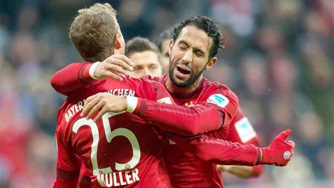 Bayern Munich 2 - 0 Hertha Berlin (Đức 2015-2016, vòng 14)
