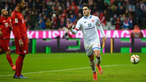 Bayern Munich 1 - 2 Mainz 05 (Đức 2015-2016, vòng 24)