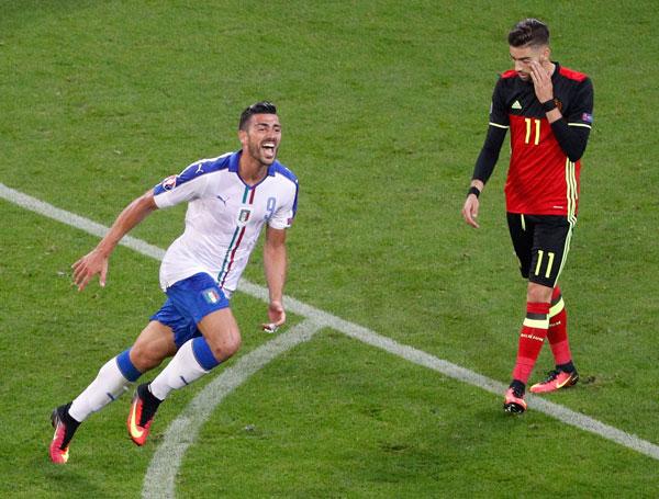Bỉ 0 - 2 Italy (Euro 2014-2016, vòng bảng)