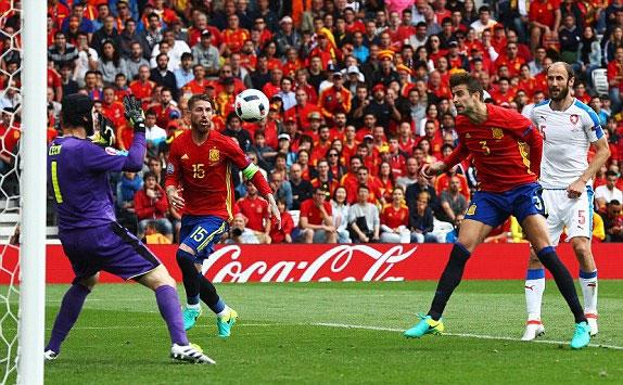 Tây Ban Nha 1 - 0 Séc (Euro 2014-2016, vòng bảng)