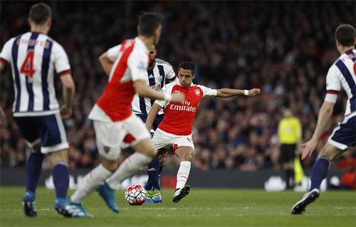Arsenal 2 - 0 West Bromwich (Ngoại Hạng Anh 2015-2016, vòng )