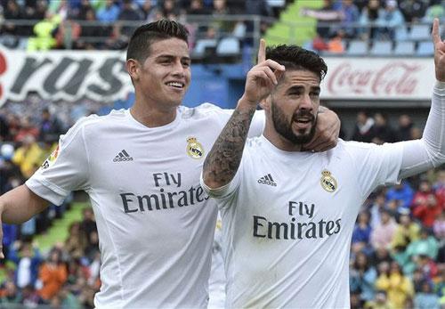 Getafe 1 - 5 Real Madrid (Tây Ban Nha 2015-2016, vòng 33)